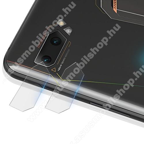 IMAK kameralencsevédő üvegfólia - 2db, 9H, Arc Edges - ASUS ROG Phone II (ZS660KL) - GYÁRI