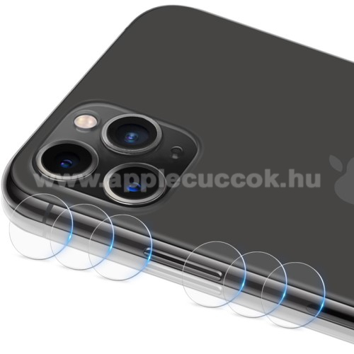 IMAK kameralencsevédő üvegfólia - 2db, 9H, Arc Edges - APPLE iPhone 11 Pro / APPLE iPhone 11 Pro Max - GYÁRI