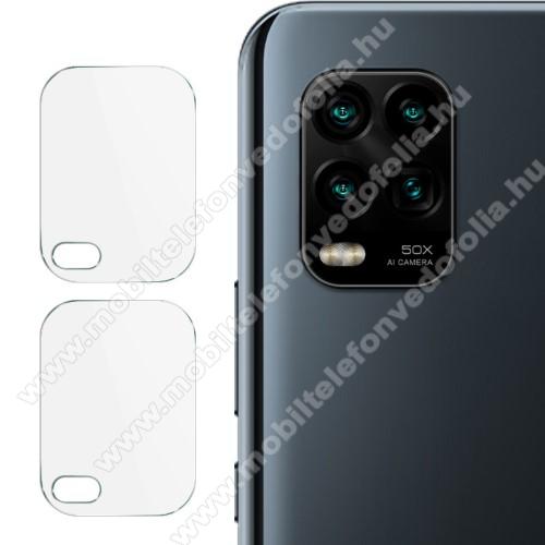 IMAK kameralencsevédő üvegfólia - 2db, 9H, Arc Edges - Xiaomi Mi 10 Lite 5G / Xiaomi Mi 10 Youth 5G / Xiaomi Mi 10 Lite Zoom - GYÁRI