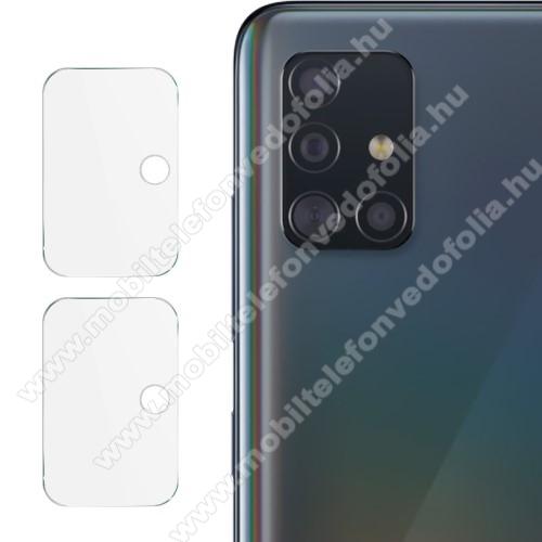 IMAK kameralencsevédő üvegfólia - 2db, 9H, Arc Edges - SAMSUNG Galaxy A51 (SM-A515F) / SAMSUNG Galaxy A51 5G (SM-A516F) - GYÁRI
