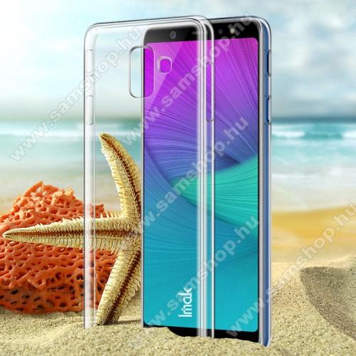 IMAK műanyag védő tok / hátlap - ÁTLÁTSZÓ - SAMSUNG SM-A600F Galaxy A6 (2018) - GYÁRI