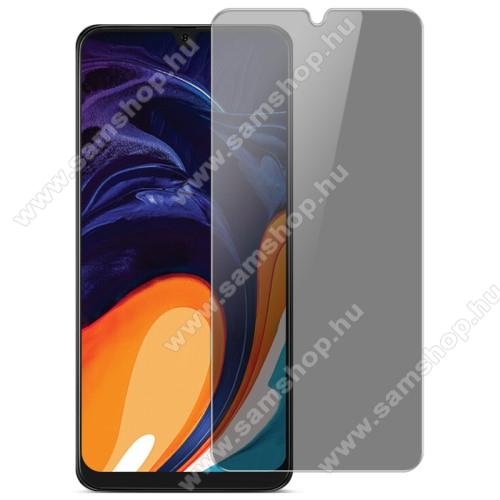 IMAK Privacy Anti-peep előlap védő karcálló edzett üveg - ÁTLÁTSZÓ - 9H, betekintés elleni védelemmel, a teljes felületén tapad! - A TELJES KIJELZŐT VÉDI! - SAMSUNG Galaxy A20e (SM-A202F) / SAMSUNG Galaxy A40 (SM-A405F) - GYÁRI