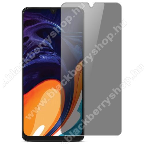 IMAK Privacy Anti-peep előlap védő karcálló edzett üveg - ÁTLÁTSZÓ - 9H, betekintés elleni védelemmel, a teljes felületén tapad! - A TELJES KIJELZŐT VÉDI! - SAMSUNG SM-A202F Galaxy A20e / SAMSUNG SM-A405F Galaxy A40 - GYÁRI