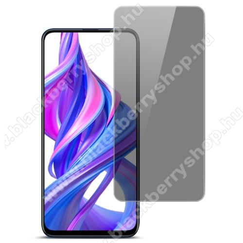 IMAK Privacy Anti-peep előlap védő karcálló edzett üveg - ÁTLÁTSZÓ - 9H, betekintés elleni védelemmel, a teljes felületén tapad! - A TELJES KIJELZŐT VÉDI! - HUAWEI P smart Pro (2019) / HUAWEI Y9s / Honor 9X / Honor 9X (For China market) / Honor 9X Pro (Fo
