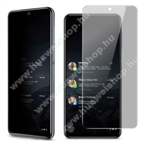IMAK Privacy Anti-peep előlap védő karcálló edzett üveg - ÁTLÁTSZÓ - 9H, betekintés elleni védelemmel, a teljes felületén tapad! - A TELJES KIJELZŐT VÉDI! - Xiaomi Redmi Note 9S / Redmi Note 9 Pro / Redmi Note 9 Pro Max / Poco M2 Pro - GYÁRI