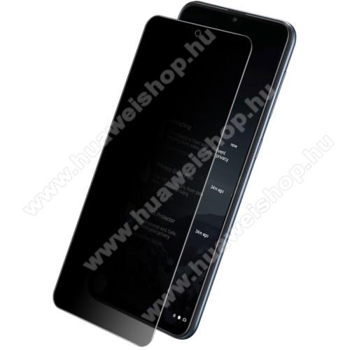 IMAK Privacy Anti-peep előlap védő karcálló edzett üveg - ÁTLÁTSZÓ - 9H, betekintés elleni védelemmel, a teljes felületén tapad! - A TELJES KIJELZŐT VÉDI! - SAMSUNG Galaxy A52 5G (SM-A526F) / Galaxy A52 4G (SM-A525F) - GYÁRI