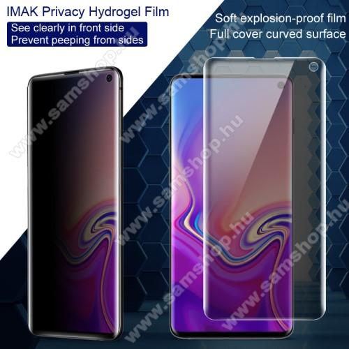 IMAK Privacy Hydrogel Protector képernyővédő fólia - 1db, betekintés elleni védelemmel, A TELJES KIJELZŐT VÉDI! - SAMSUNG SM-G973F Galaxy S10 - GYÁRI