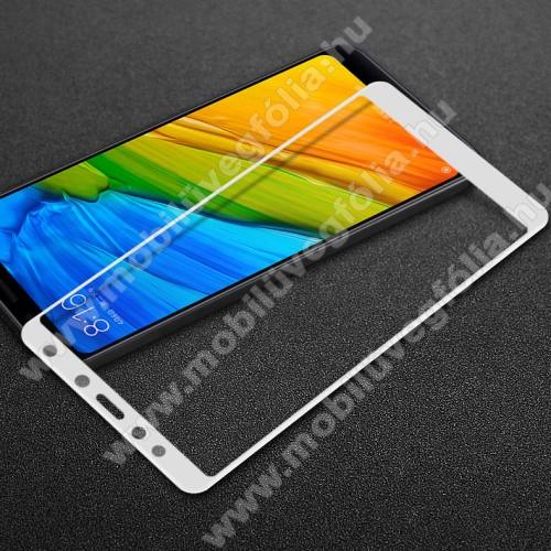 IMAK Pro+ előlap védő karcálló edzett üveg - FEHÉR - 9H, Arc Edge - Xiaomi Redmi 5 - A TELJES KIJELZŐT VÉDI! - GYÁRI