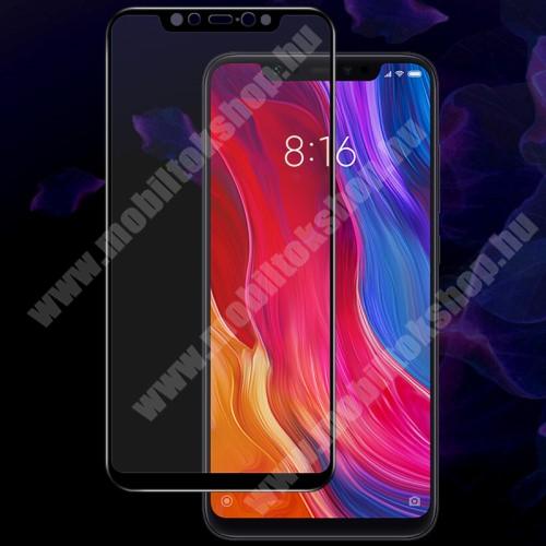 Xiaomi Mi 8 IMAK Pro+ előlap védő karcálló edzett üveg - FEKETE - 9H - Xiaomi Mi 8 / Xiaomi Mi 8 Pro / Xiaomi Mi 8 Explorer - A TELJES KIJELZŐT VÉDI! - GYÁRI