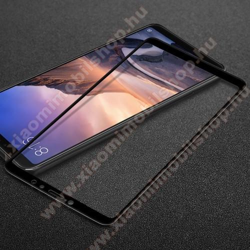 Xiaomi Mi Max 3IMAK Pro+ előlap védő karcálló edzett üveg - FEKETE - 9H - Xiaomi Mi Max 3 - A TELJES KIJELZŐT VÉDI! - GYÁRI