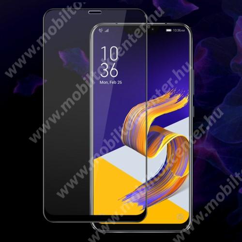 IMAK Pro+ előlap védő karcálló edzett üveg - FEKETE - 9H - ASUS Zenfone 5z (ZS620KL) (2018) / ASUS Zenfone 5 (ZE620KL) (2018) - A TELJES KIJELZŐT VÉDI! - GYÁRI