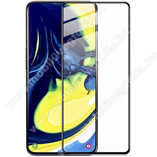 IMAK Pro+ előlap védő karcálló edzett üveg - FEKETE - 9H - A teljes felületén tapad! - SAMSUNG SM-A805F Galaxy A80 / SAMSUNG Galaxy A90 - A TELJES KIJELZŐT VÉDI! - GYÁRI