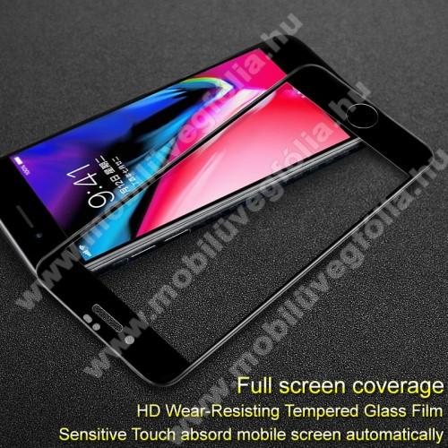 APPLE iPhone 7IMAK Pro+ előlap védő karcálló edzett üveg - FEKETE - 9H, A teljes felületén tapad! - APPLE iPhone SE (2020) / APPLE iPhone 7 / APPLE iPhone 8 / APPLE iPhone 6 / APPLE iPhone 6S - A TELJES KIJELZŐT VÉDI! - GYÁRI