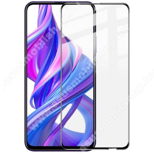 IMAK Pro+ előlap védő karcálló edzett üveg - FEKETE - 9H, A teljes felületén tapad! - HUAWEI P smart Pro (2019) / HUAWEI P Smart Z / HUAWEI Y9s / Honor 9X (Global) / Honor 9X (China) / Honor 9X Pro (China) - A TELJES KIJELZŐT VÉDI - GYÁRI