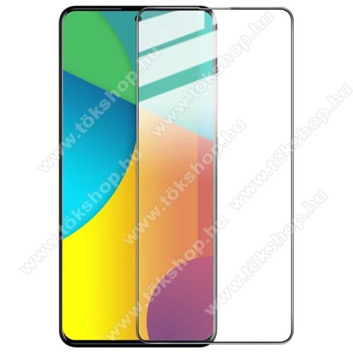 IMAK Pro+ előlap védő karcálló edzett üveg - FEKETE - 9H, A teljes felületén tapad! - SAMSUNG Galaxy A51 (SM-A515F) / SAMSUNG Galaxy A51 5G (SM-A516F) - A TELJES KIJELZŐT VÉDI! - GYÁRI