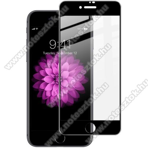 IMAK Pro+ előlap védő karcálló edzett üveg - FEKETE - 9H, A TELJES KIJELZŐT VÉDI! - APPLE iPhone SE (2020) / APPLE iPhone 7 / APPLE iPhone 8 / APPLE iPhone 6 / APPLE iPhone 6S - GYÁRI