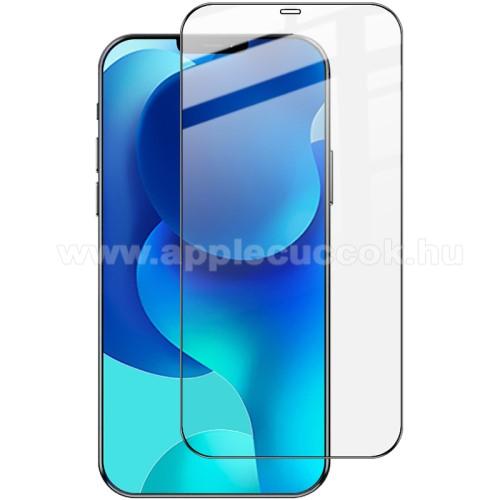APPLE iPhone 12 Pro MaxIMAK Pro+ előlap védő karcálló edzett üveg - FEKETE - 9H - A TELJES KIJELZŐT VÉDI! - APPLE iPhone 12 Pro Max - GYÁRI