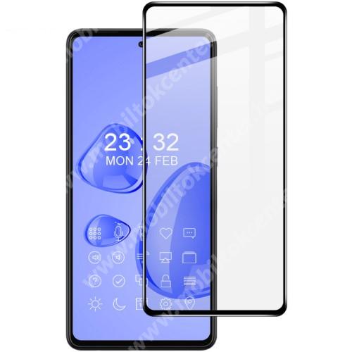 IMAK Pro+ előlap védő karcálló edzett üveg - FEKETE - 9H, A teljes felületén tapad! - SAMSUNG Galaxy A72 5G (SM-A726F) / Galaxy A72 4G (SM-A725F) - A TELJES KIJELZŐT VÉDI! - GYÁRI