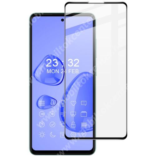 IMAK Pro+ előlap védő karcálló edzett üveg - FEKETE - 9H, A teljes felületén tapad! - SAMSUNG Galaxy A52 5G (SM-A526F) / Galaxy A52 4G (SM-A525F) - A TELJES KIJELZŐT VÉDI! - GYÁRI