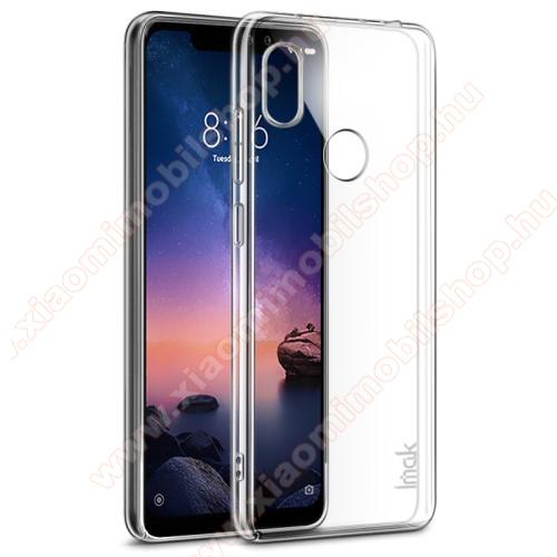 IMAK PRO II műanyag védő tok / hátlap - VÉKONY! 1mm, képernyővédő fóliával! - ÁTLÁTSZÓ - Xiaomi Redmi Note 6 Pro - GYÁRI