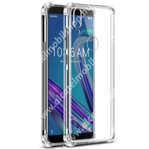 IMAK Silky szilikon védő tok / hátlap - ÁTLÁTSZÓ - ERŐS VÉDELEM! - ASUS Zenfone Max Pro (M1) (ZB601KL) / ASUS Zenfone Max Pro (M1) (ZB602KL) - GYÁRI