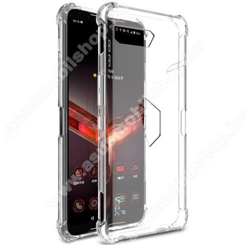 IMAK Silky szilikon védő tok / hátlap - ÁTLÁTSZÓ - ERŐS VÉDELEM! - képernyővédő fóliával! - ASUS ROG Phone II (ZS660KL) - GYÁRI