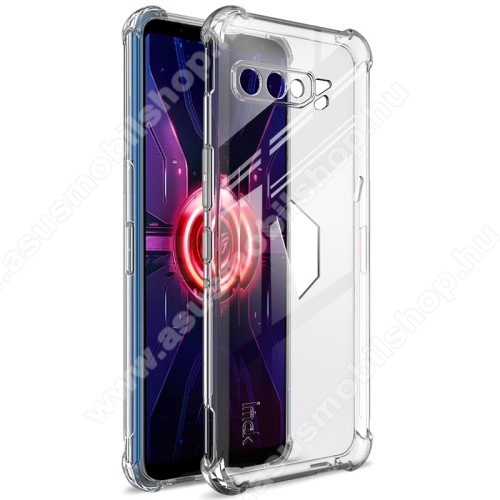 IMAK Silky szilikon védő tok / hátlap - ÁTLÁTSZÓ - ERŐS VÉDELEM! - képernyővédő fóliával! - ASUS ROG Phone 3 (ZS661KS) / ASUS ROG Phone 3 Strix - GYÁRI