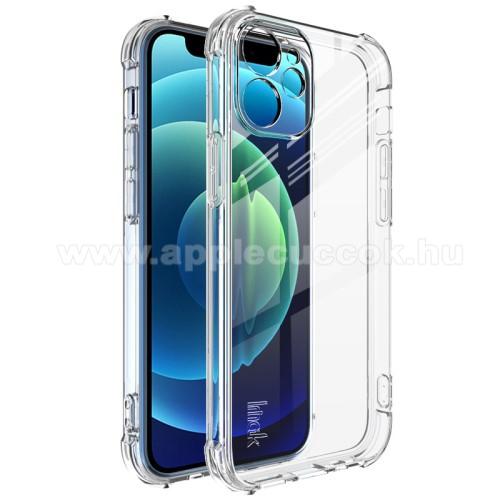 IMAK Silky szilikon védő tok / hátlap - ÁTLÁTSZÓ - ERŐS VÉDELEM! - képernyővédő fóliával! - APPLE iPhone 12 mini - GYÁRI