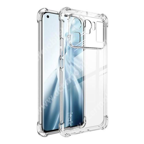 IMAK Silky szilikon védő tok / hátlap - ÁTLÁTSZÓ - ERŐS VÉDELEM! - képernyővédő fóliával! - Xiaomi Mi 11 Ultra - GYÁRI