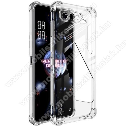 IMAK Silky szilikon védő tok / hátlap - ÁTLÁTSZÓ - ERŐS VÉDELEM! - képernyővédő fóliával! - ASUS ROG Phone 5 / ROG Phone 5 Pro / ROG Phone 5 Ultimate - GYÁRI
