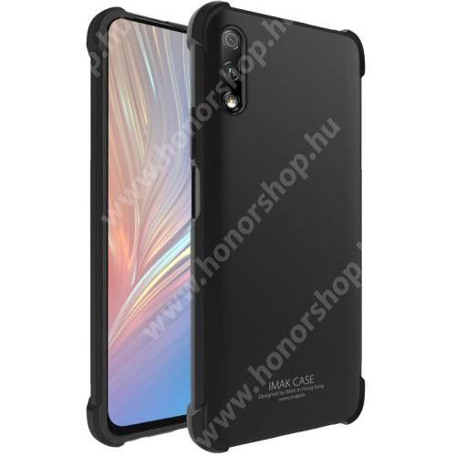 HUAWEI Honor 9X (For China market)IMAK Silky szilikon védő tok / hátlap - FÉNYES FEKETE - ERŐS VÉDELEM! - képernyővédő fóliával! - HUAWEI P smart Pro (2019) / HUAWEI Y9s / Honor 9X (For China market) / Honor 9X Pro (For China) - GYÁRI