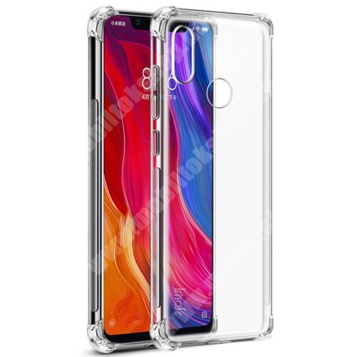 Xiaomi Mi 8 IMAK Skin Feel Airbag szilikon védő tok / hátlap - ÁTLÁTSZÓ - ERŐS VÉDELEM! - képernyővédő fóliával! - Xiaomi Mi 8 - GYÁRI