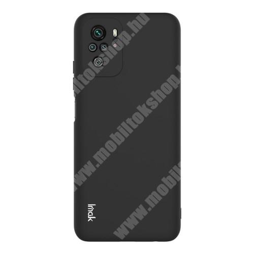 IMAK UC-2 szilikon védő tok / hátlap - FEKETE - Xiaomi Redmi Note 10 / Redmi Note 10S - GYÁRI