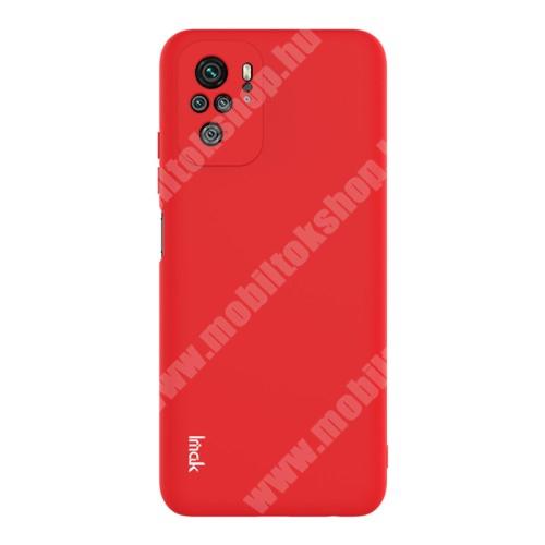 IMAK UC-2 szilikon védő tok / hátlap - PIROS - Xiaomi Redmi Note 10 / Redmi Note 10S - GYÁRI