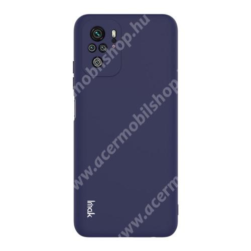 IMAK UC-2 szilikon védő tok / hátlap - SÖTÉTKÉK - Xiaomi Redmi Note 10 / Redmi Note 10S - GYÁRI