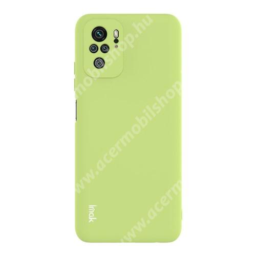 IMAK UC-2 szilikon védő tok / hátlap - ZÖLD - Xiaomi Redmi Note 10 / Redmi Note 10S - GYÁRI