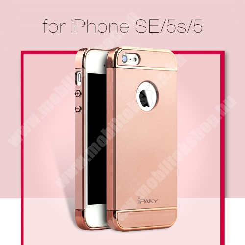 APPLE iPhone SE IPAKY műanyag védő tok / hátlap - ROSE GOLD - Apple IPhone SE / Apple IPhone 5 / Apple IPhone 5S - GYÁRI