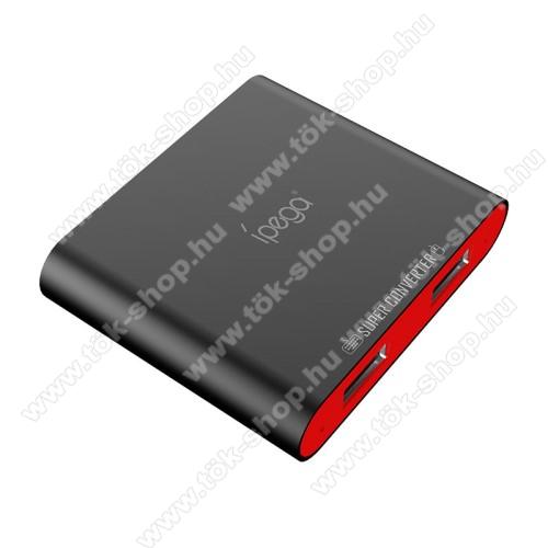 IPEGA PG-9116 Bluetooth billentyűzet és egér átalakító - Bluetooth V4.0 csatlakozás, Androiddal kompatibilis csak, FPS játékokhoz - FEKETE