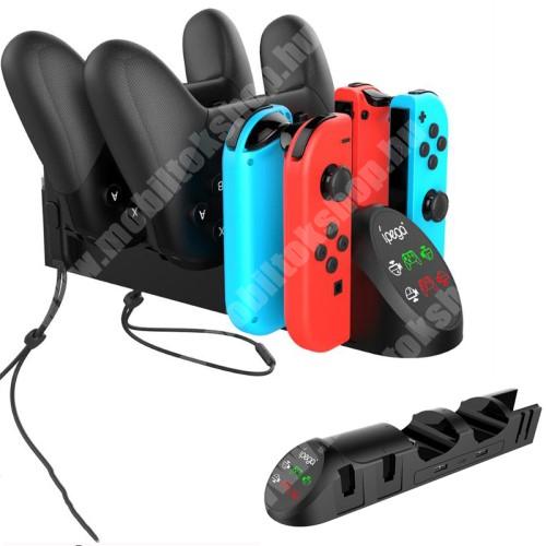 IPEGA PG-9187 6 az 1-ben Nintendo Switch Joy-Con Pro Nintendo Switch Pro Joystick töltőállomás - 5V/2A, kijelző, 2x USB2.0 kimenet 5V/2A, 243mm x 58mm x 57mm - PG-9187 - GYÁRI