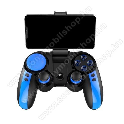 IPEGA UNIVERZÁLIS Kontroller / Joystick - 43-tól 80mm-ig állítható bölcsővel, Bluetooth 4.0 csatlakozás + 2.4GHz adapter, beépített 300mAh akkumulátor, kompatibilis okostelefonokkal, TV-vel, PC-vel - FEKETE / KÉK - PG-9090 - GYÁRI