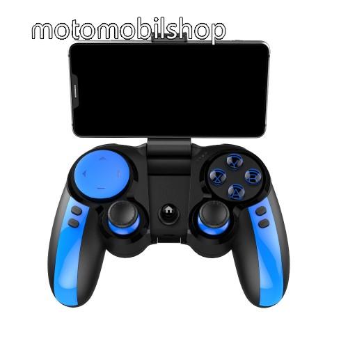 MOTOROLA U6 IPEGA UNIVERZÁLIS Kontroller / Joystick - 43-tól 80mm-ig állítható bölcsővel, Bluetooth 4.0 csatlakozás + 2.4GHz adapter, beépített 300mAh akkumulátor, kompatibilis okostelefonokkal, TV-vel, PC-vel - FEKETE / KÉK - PG-9090 - GYÁRI