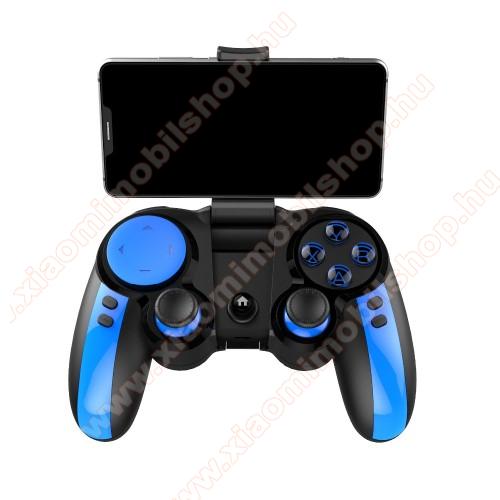 IPEGA UNIVERZÁLIS Kontroller / Joystick - Bluetooth 4.0 csatlakozás + 2.4GHz adapter, beépített 300mAh akkumulátor, kompatibilis okostelefonokkal, TV-vel, PC-vel - FEKETE / KÉK - PG-9090 - GYÁRI