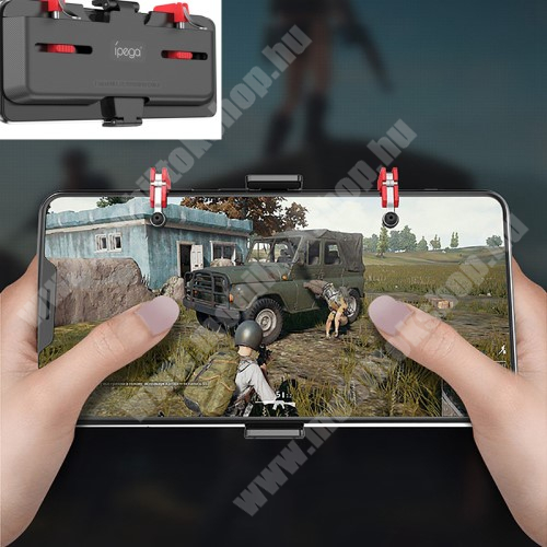 ZTE Blade A520 IPEGA UNIVERZÁLIS Kontroller / Joystick - ravasz FPS játékokhoz, gamepad, 67-87mm-ig állítható bölcső, kompatibilis telefon vastagság 7,30-8,80 mm - FEKETE - GYÁRI