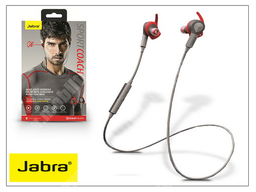 MOTOROLA Moto G4 Jabra Sport Coach Bluetooth sztereó headset v4.0 - MultiPoint - grey/red