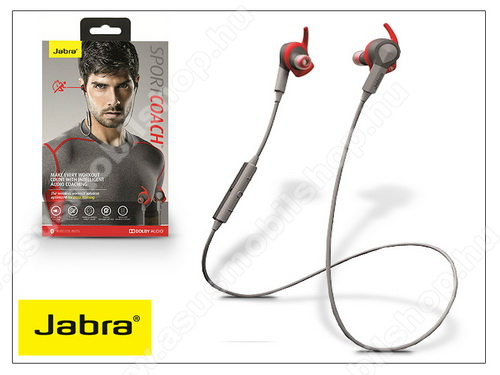ASUS Memo Pad 7 ME572C Jabra Sport Coach Bluetooth sztereó headset v4.0 - MultiPoint - grey/red