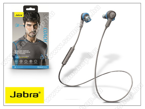 Jabra Sport Coach Bluetooth sztereó headset v4.0 - MultiPoint - grey/blue
