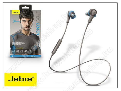 HUAWEI Honor 20 lite (For China Market) Jabra Sport Coach Bluetooth sztereó headset v4.0 - MultiPoint - grey/blue