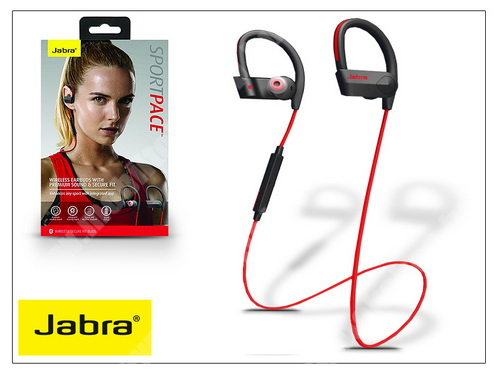 Meizu C9 Jabra Sport Pace Bluetooth sztereó headset v4.0 - MultiPoint - black/red