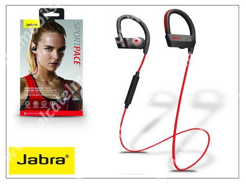 Jabra Sport Pace Bluetooth sztereó headset v4.0 - MultiPoint - black/red