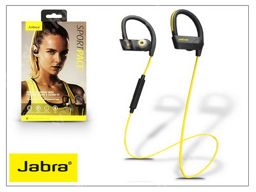 Jabra Sport Pace Bluetooth sztereó headset v4.0 - MultiPoint - black/yellow